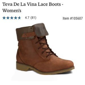 Teva de la vina boots. Like new. Purchased at REI